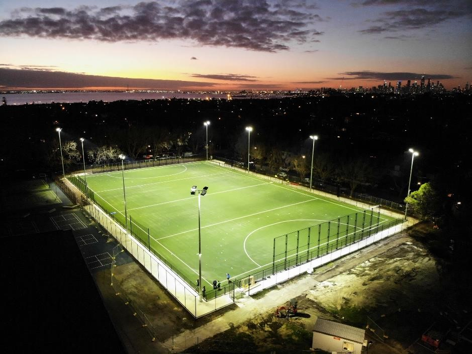 Playing at the new Elwood ground?
