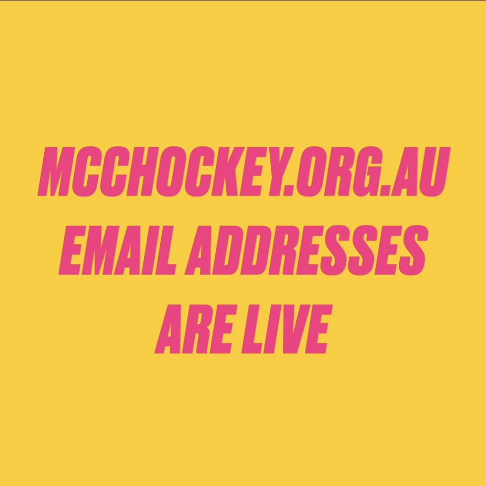 mcchockey.org.au email addresses are live